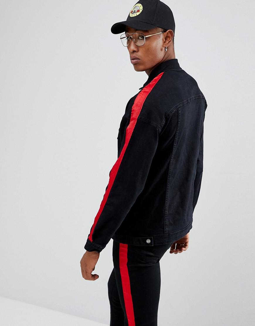 homme rouges en Veste Sixth June rayures Lyst en jean pour avec WzcwqqgUT