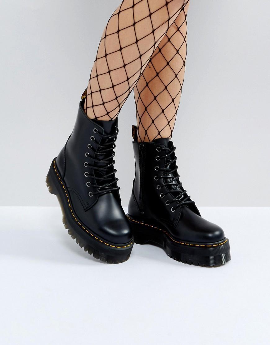 eab7b05c46a Lyst - Dr. Martens Jadon Flatform Chunky Boots in Black
