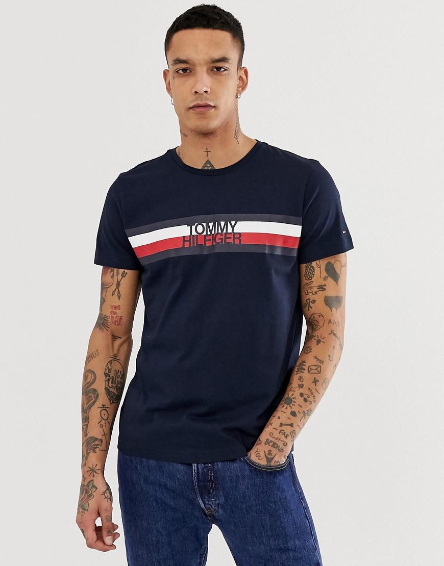 172239af Tommy Hilfiger - Blue Signature Tommy Logo T-shirt for Men - Lyst. View  fullscreen