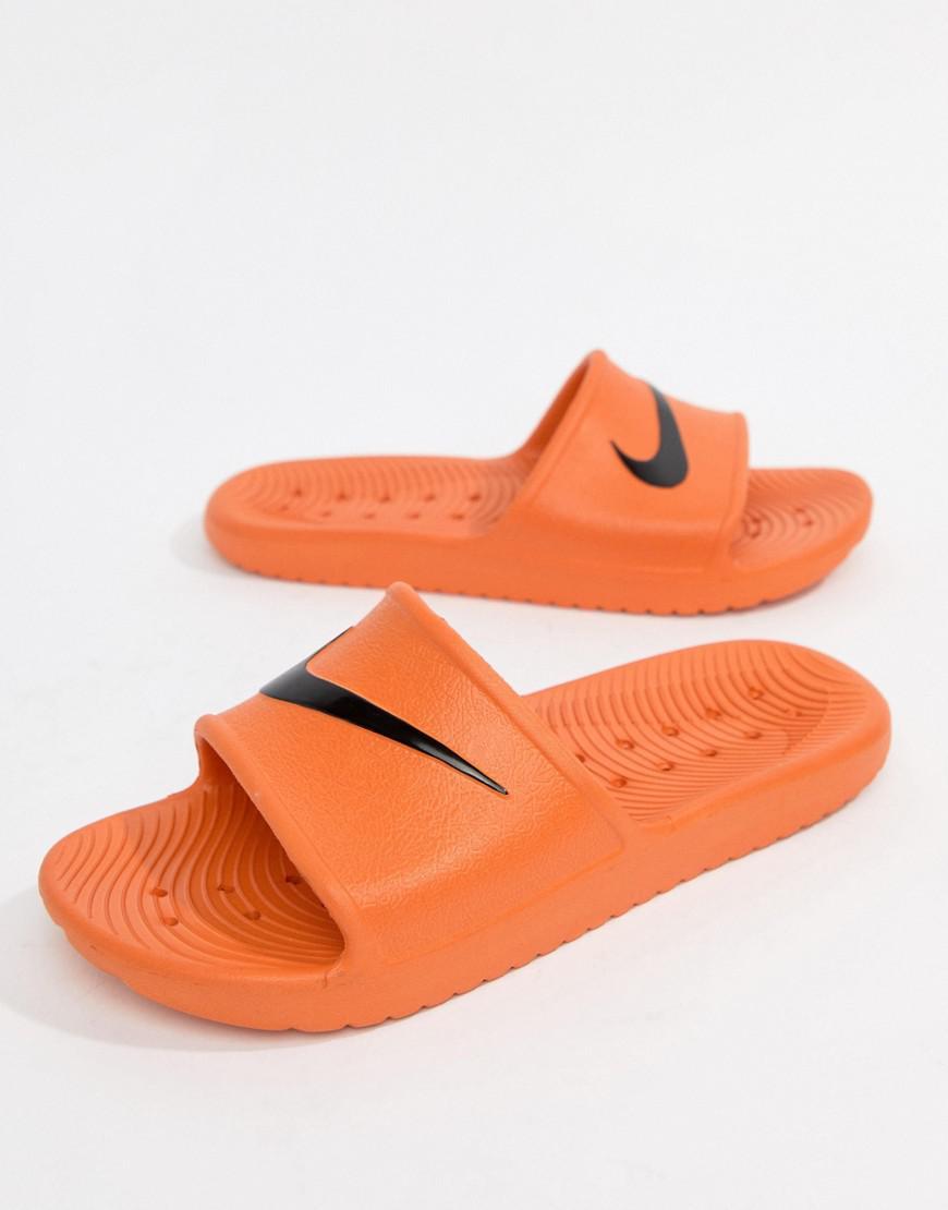 new styles 51de2 1d5f0 Nike Kawa Sliders In Orange 832528-800 in Pink for Men - Lys