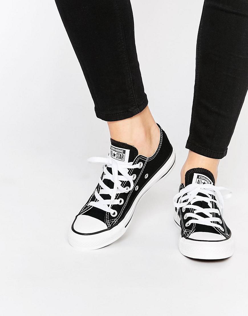 eeb3d6f1b57cf3 Lyst - Converse Chuck Taylor All Star Core Black Ox Sneakers in Black
