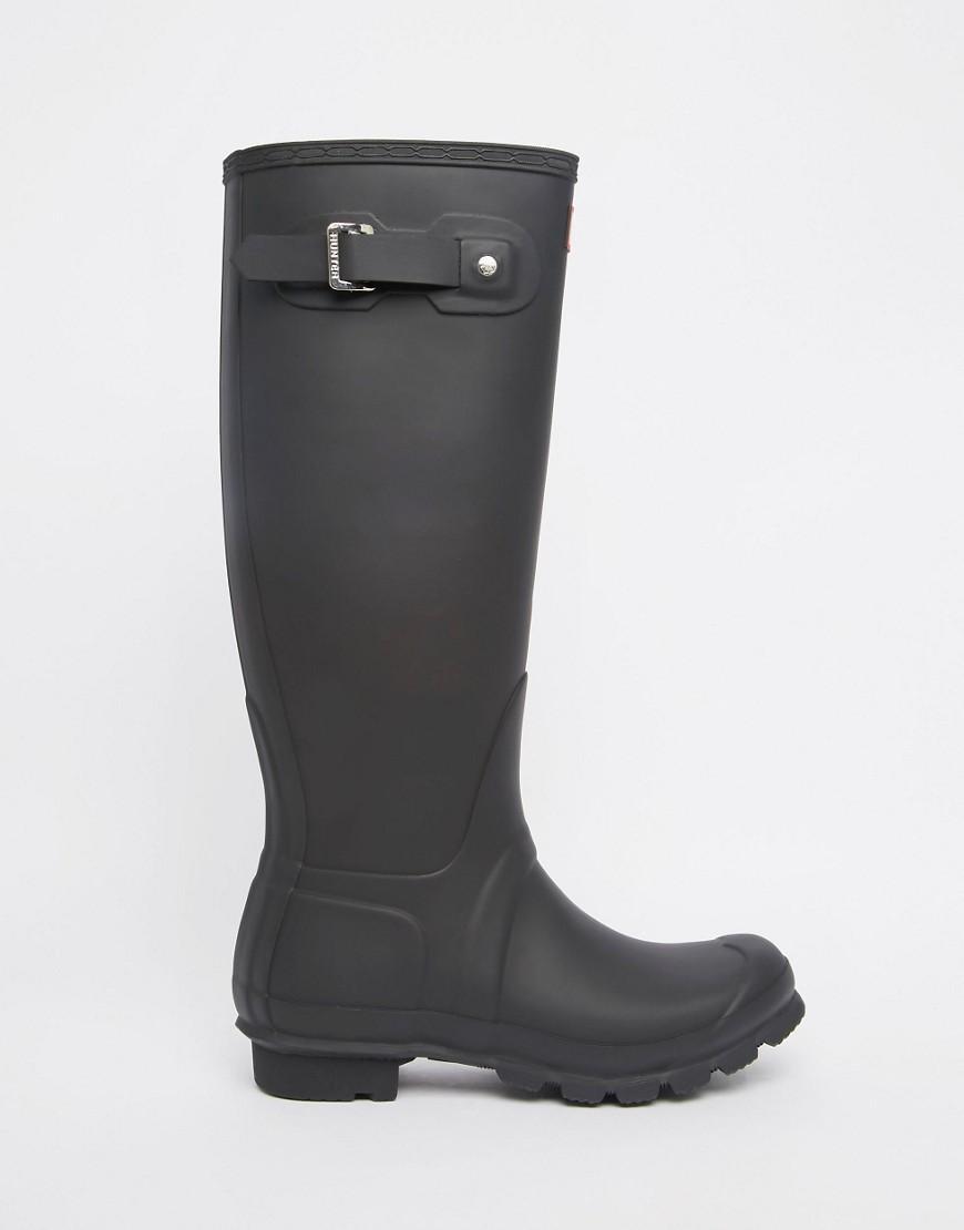 b570ca8c42 Botas de agua altas ajustables en negro Original de HUNTER de color ...