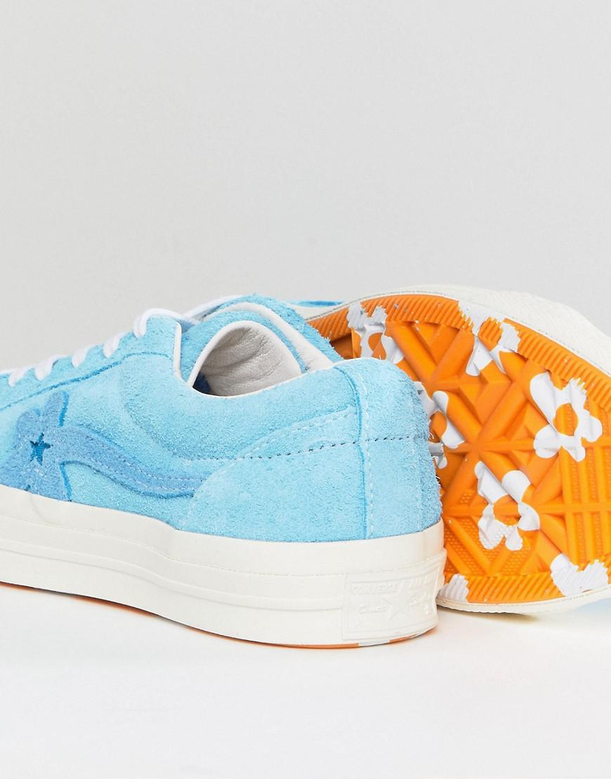 Converse x Tayler The Creator One Star Golf Le Fleur OX Candy Pink/ Orange Peel/ White footshop bianco Sd1SFkejw