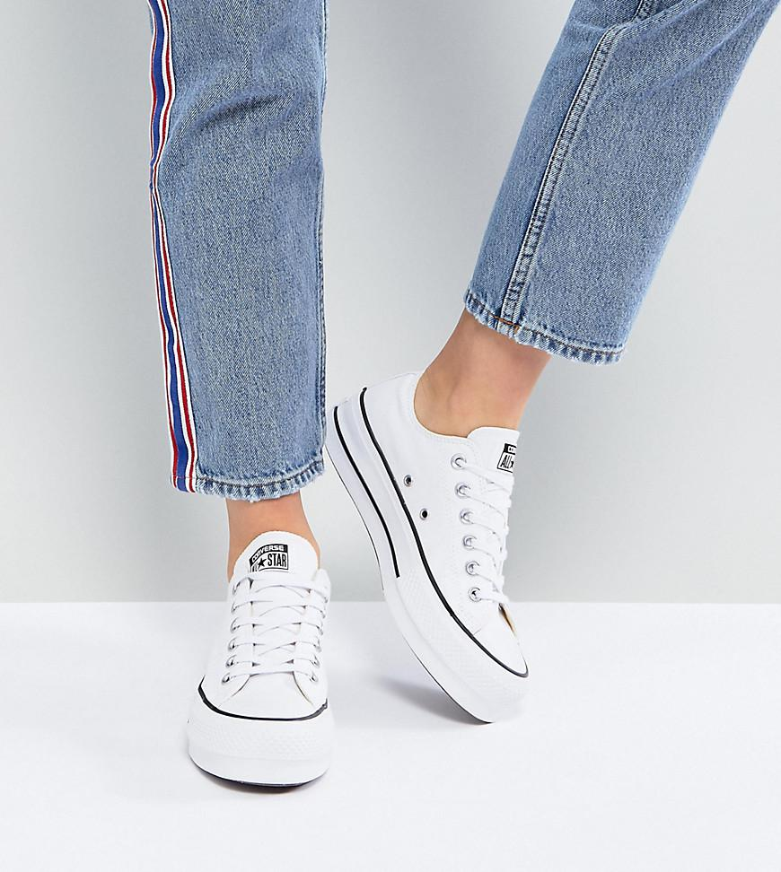 87d25d41e3ae Converse Chuck Taylor All Star Platform Ox Trainers In White in ...