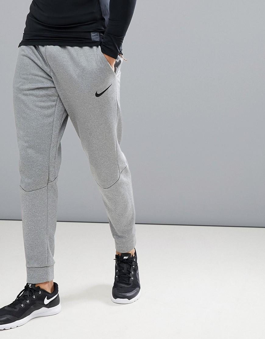 dde39eda2699 Nike Therma Tapered joggers In Grey 800193-091 in Gray for Men - Lyst
