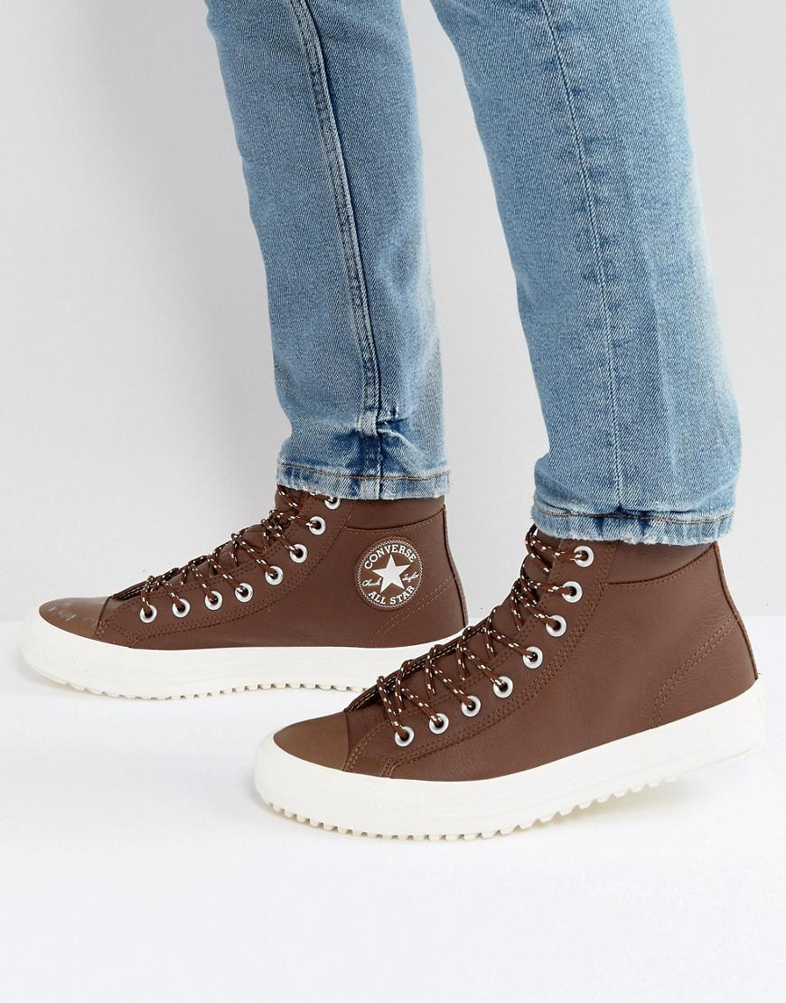 b5110c656a1 Lyst - Converse Chuck Taylor All Star Hi Boot Sneakers In Brown ...
