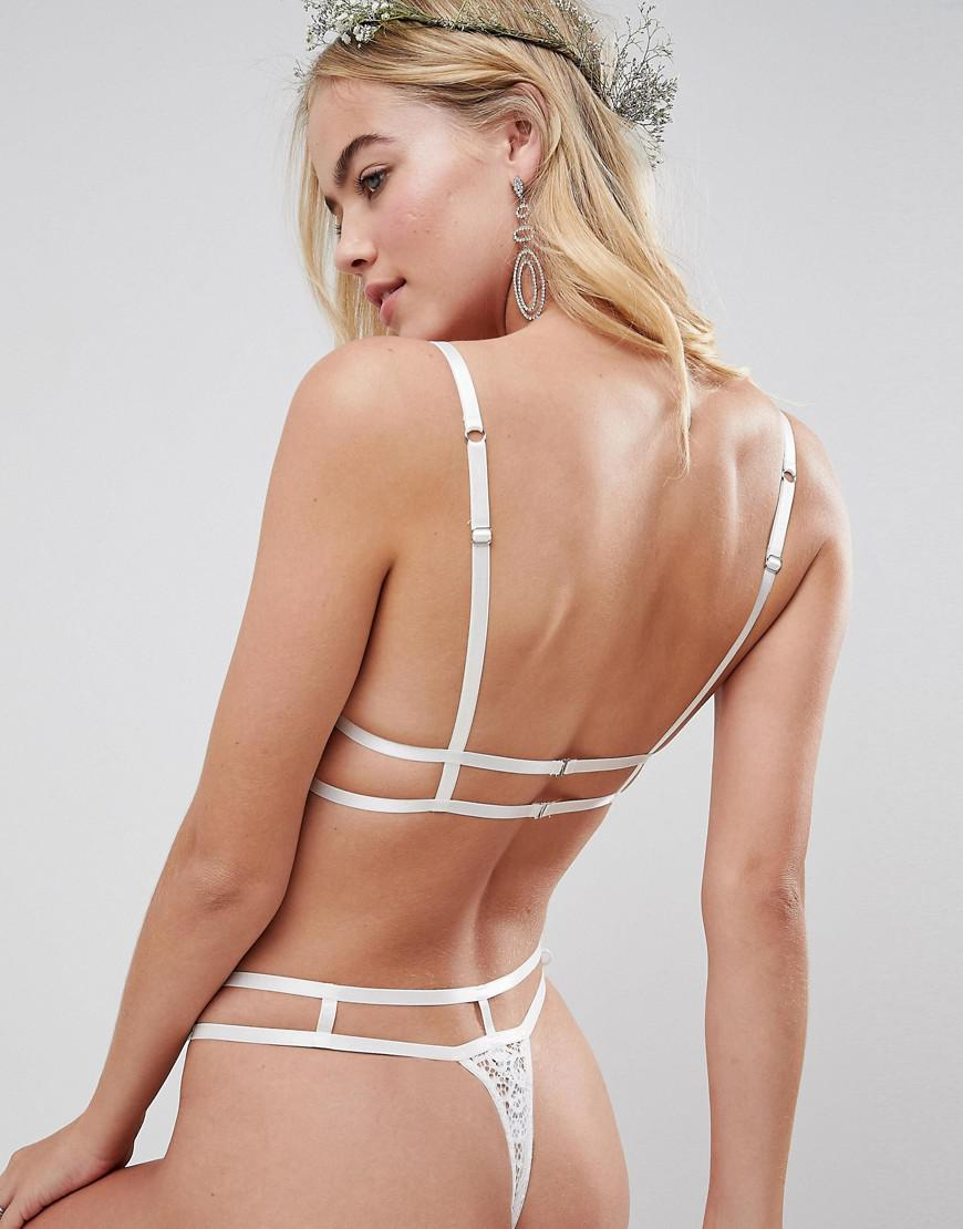 902faa0280 ASOS Bridal Sienna Thong in White - Lyst