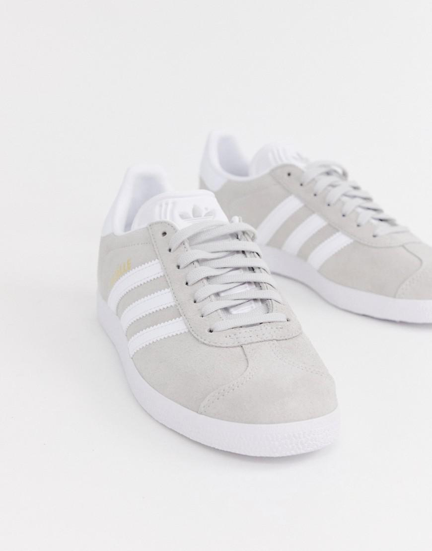 best service 4c16b a6bc8 Lyst - Adidas Originals Gray And White Gazelle Sneakers in G