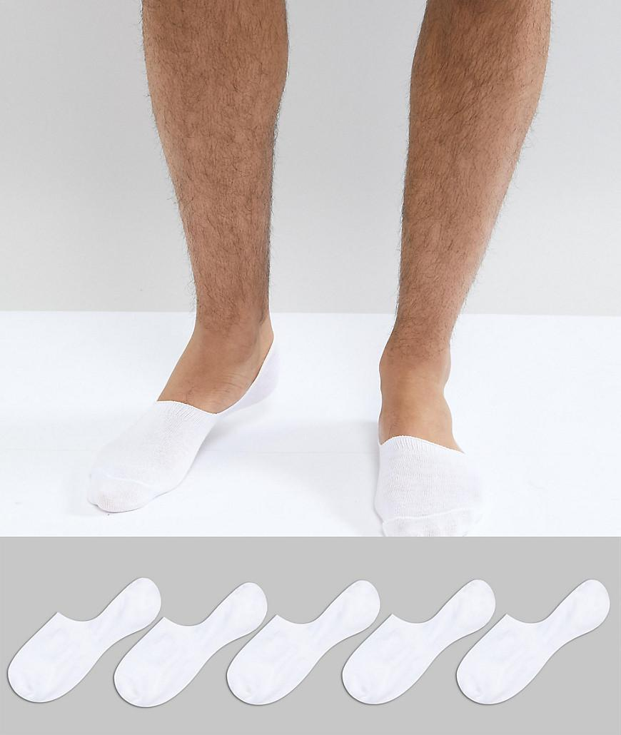 Invisible Socks In Black 5 Pack - Black Asos