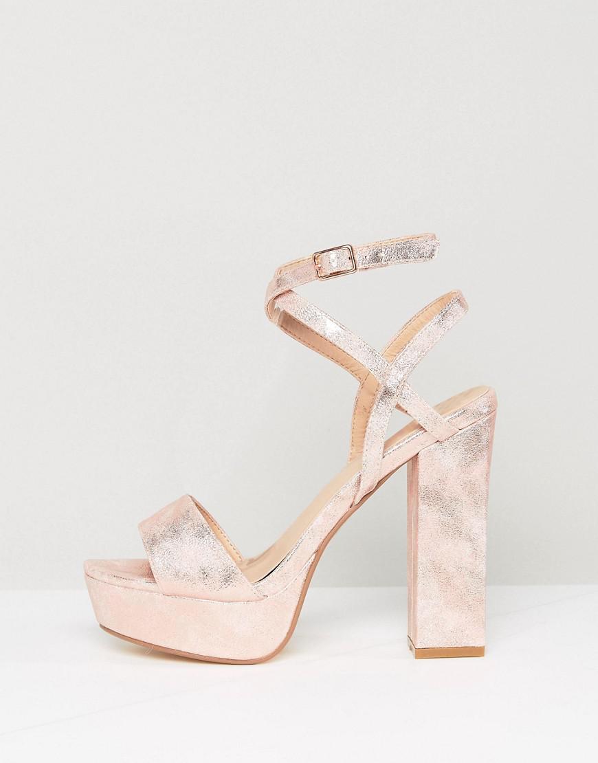 2e4fe47255e Gallery. Previously sold at  ASOS · Women s Gold Sandals Women s Velvet Platform  Heels ...