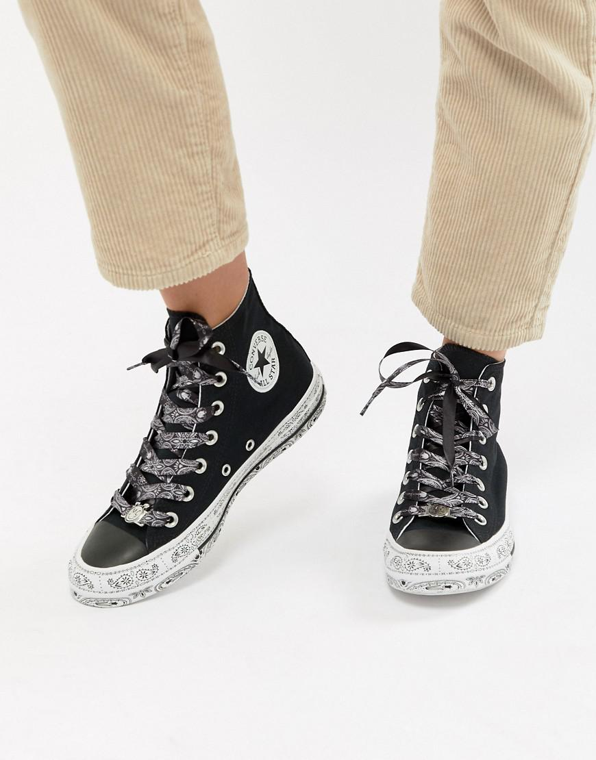 a46d96a548f2 Converse X Miley Cyrus Chuck Taylor All Star Hi Trainers In Black ...