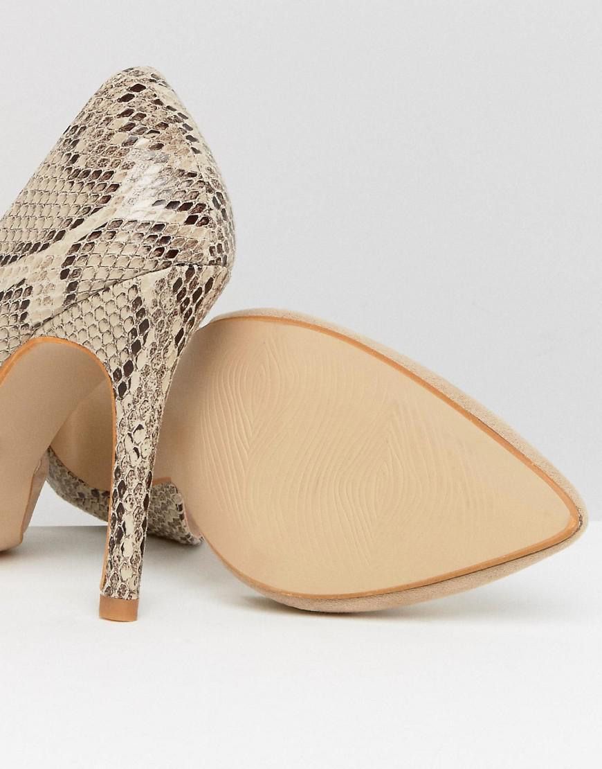 Contrast Snake Point high Heels - Beige Little Mistress Y0SaWxSVU9