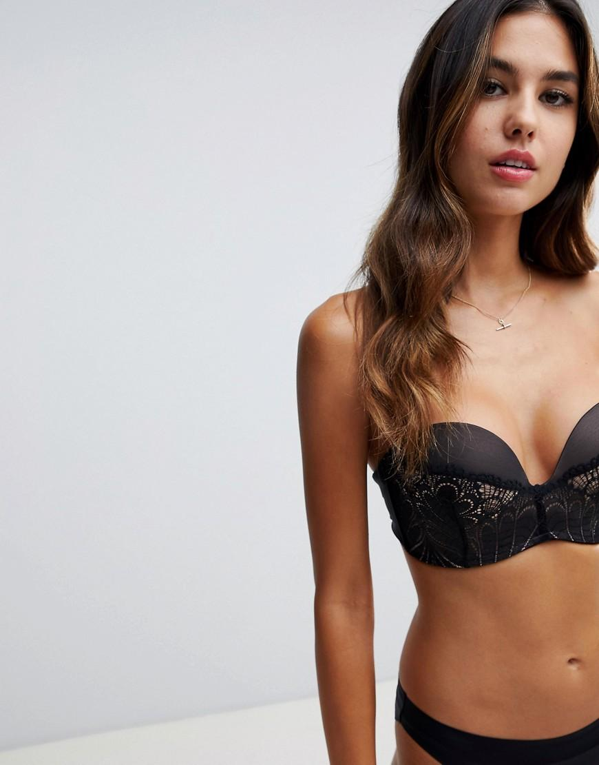 f89f525781 Wonderbra Refined Glamour Ultimate Strapless Lace Bra A in Black - Lyst