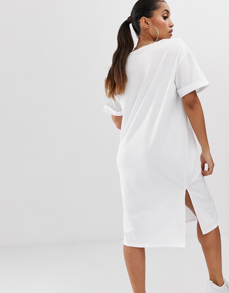 2c9e9df1a19 White T Shirt Dress Boohoo