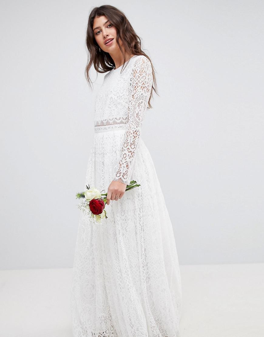 07934bd9bb8 Asos Crop Top Maxi Dress With Floral Embellishment - Data Dynamic AG