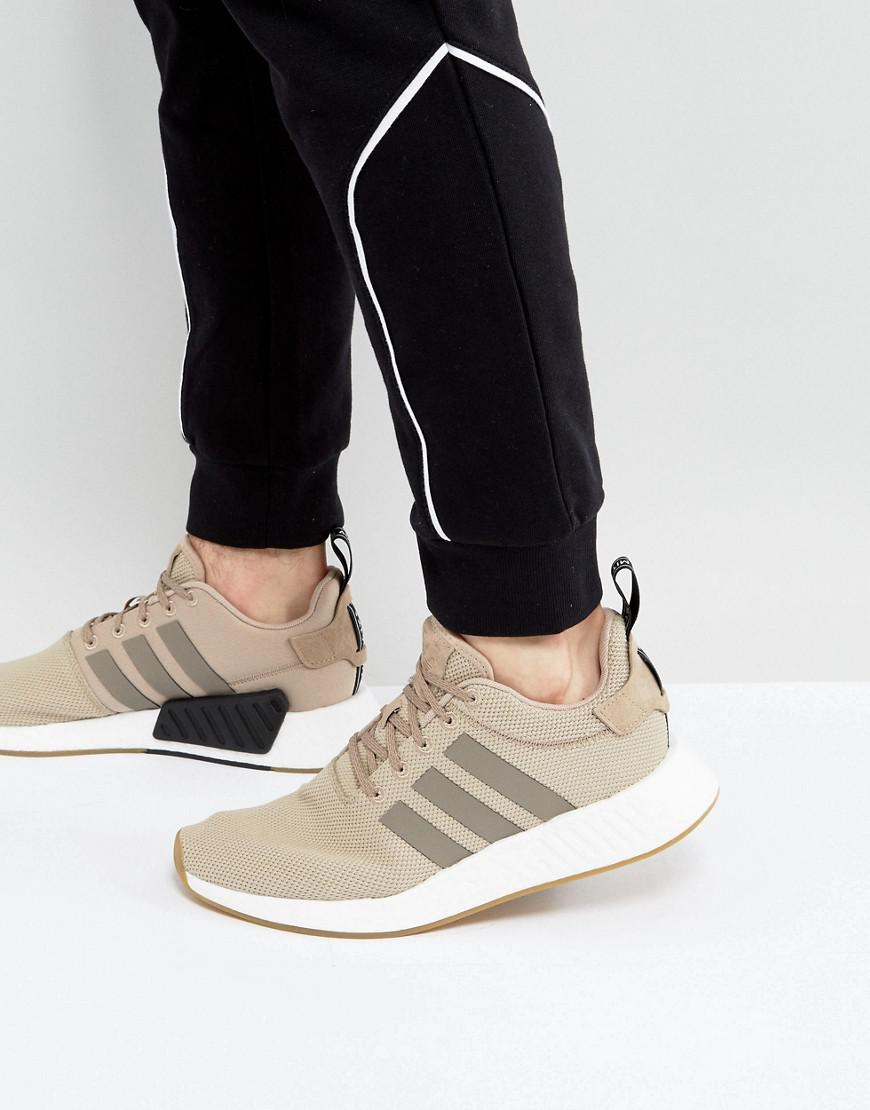 timeless design 445b1 2b60a adidas Originals Nmd R2 Sneakers In Beige By9916 in Natural for Men ...
