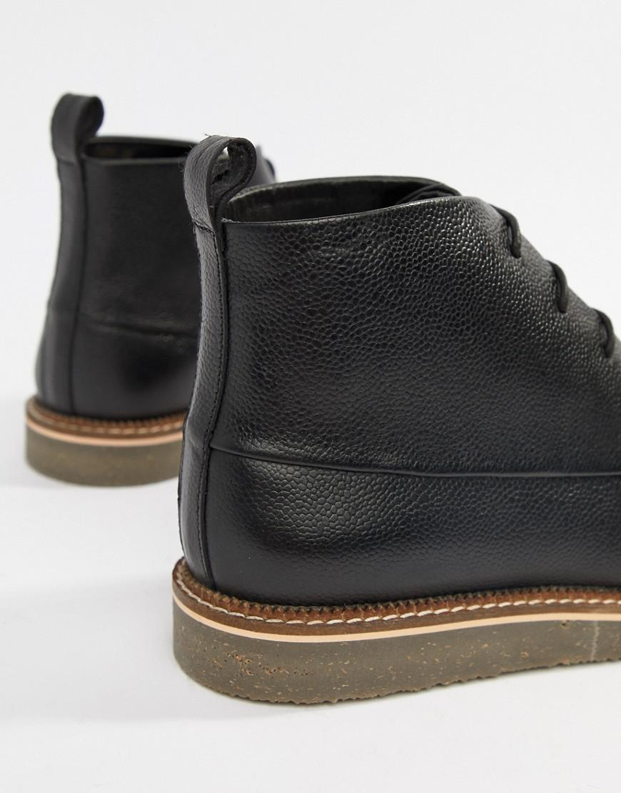 6e81c1dd9dd1e Dune Lace Up Boots With Pebble Grain In Black in Black for Men - Lyst