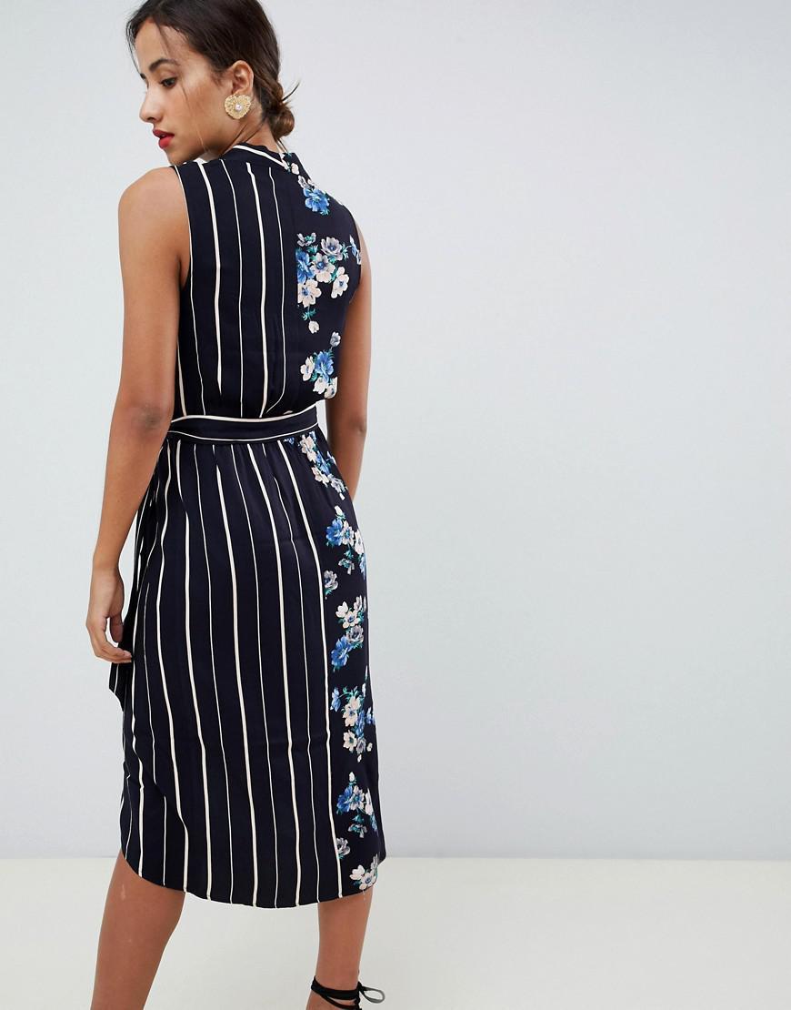 7925cb7f822 Oasis Floral Print Velvet Midi Wrap Dress - Gomes Weine AG