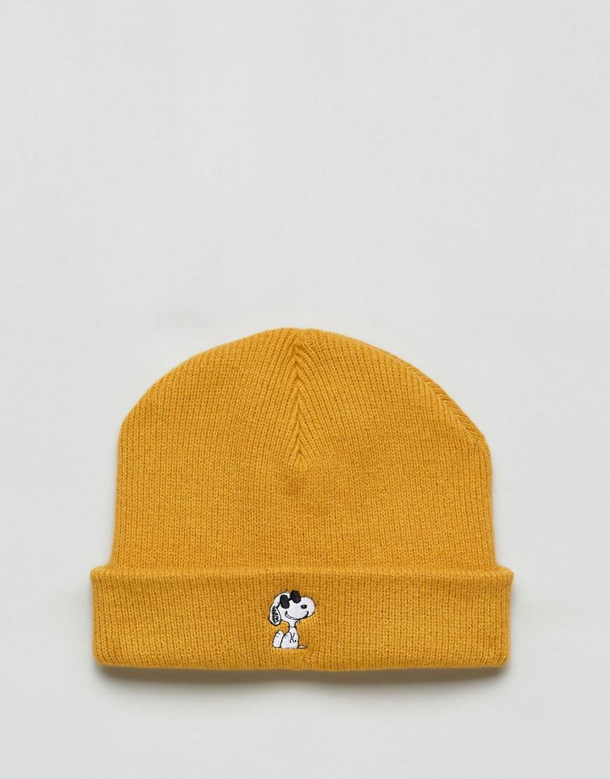 6c397e6aaab Vans X Peanuts Beanie in Yellow - Lyst