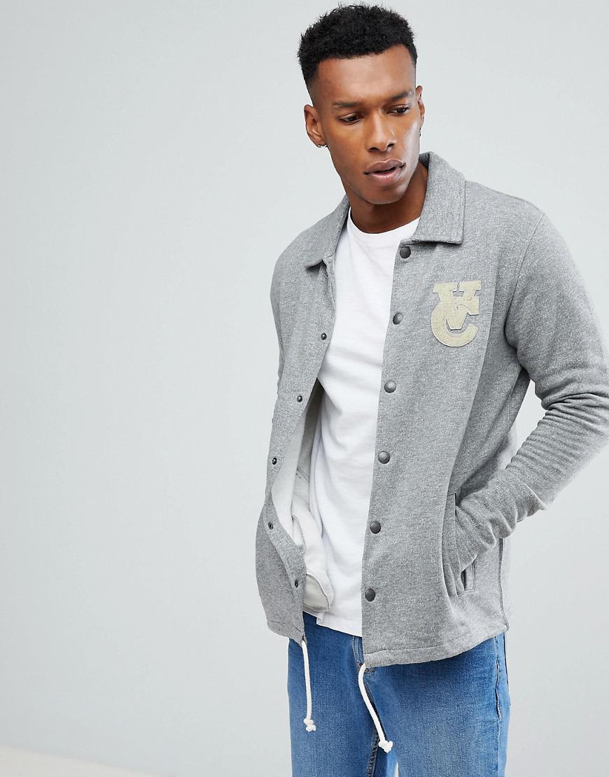 Jack Jones Vintage Jersey Coach Jacket In Gray For Men Lyst
