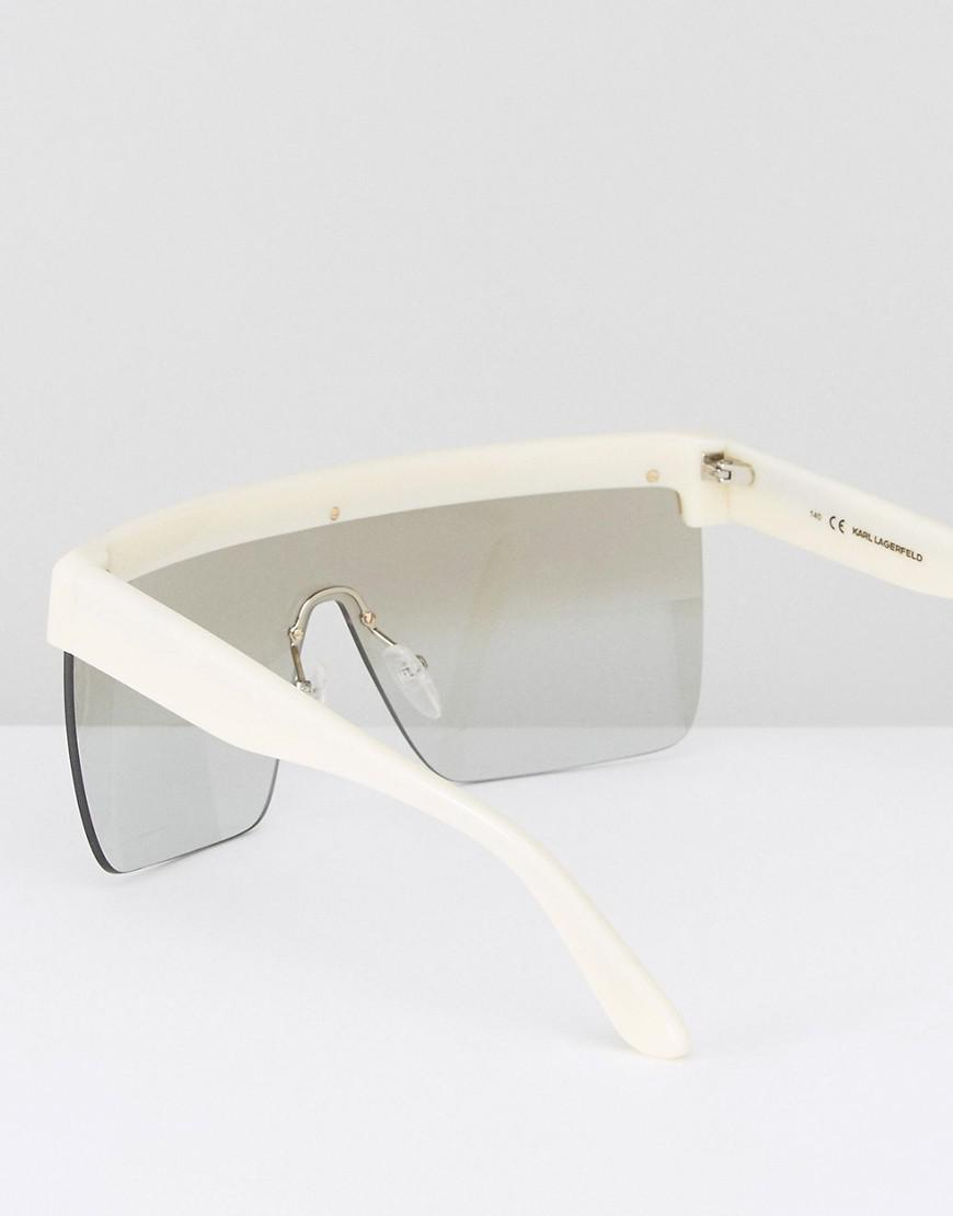 5829e6f7ca Lyst - Karl Lagerfeld Visor Sunglasses in White for Men