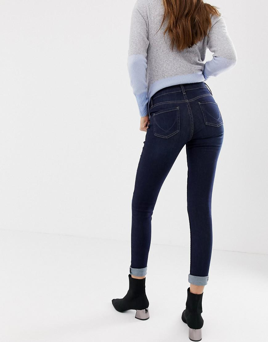 5c25284101db53 Oasis Mid-rise Skinny Jeans In Dark Wash in Blue - Lyst