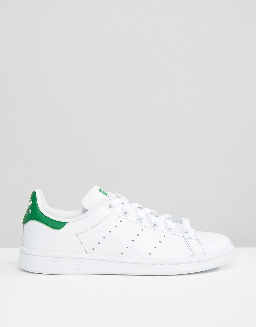 1a1786f8989213 ... coupon codes Lyst - Adidas Originals Originals Unisex White And Green Stan  Smith Sneakers in White ...
