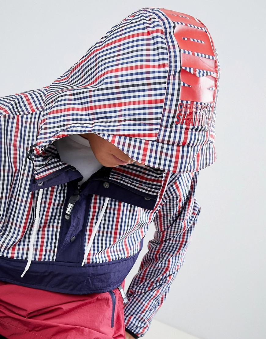 97c92b80a30 Christopher Shannon Kidda By Overhead Jacket In Red Check in Red for ...