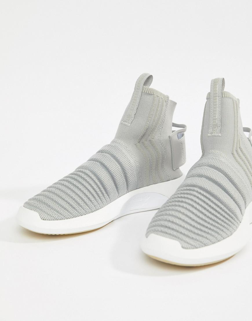 Adidas Originals Formateurs Primeknit Fou De Chaussette En Cq0984 Gris - Gris CEu1PNtbSf