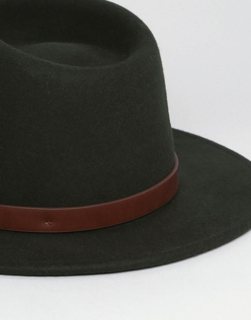 6347151db8e Lyst - Brixton Messer Fedora in Green for Men