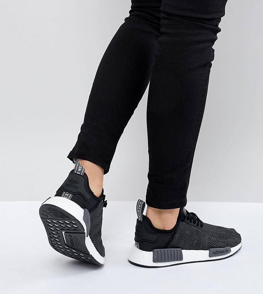 timeless design d17d8 53dc2 Adidas Originals - Nmd R1 Sneakers In Black - Lyst. View fullscreen