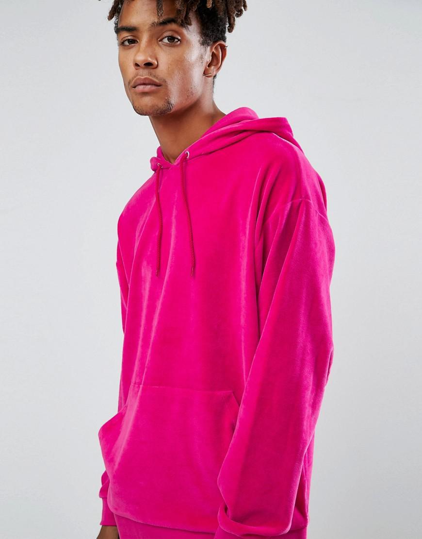 Bright pink hoodie