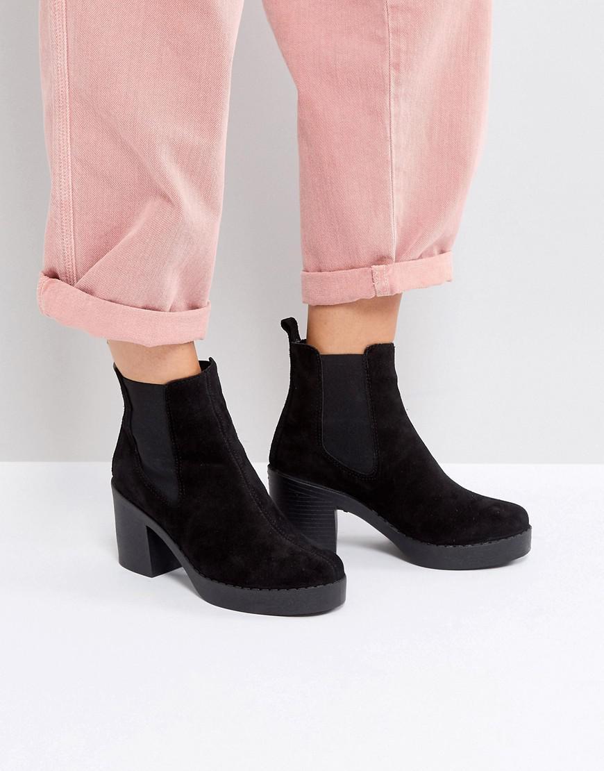 5429addaf75 Office - Black Alesha Heeled Boots - Lyst