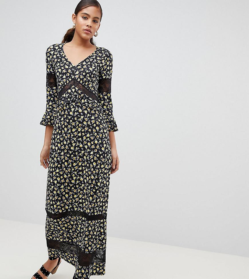 40901df95b ASOS. Women s Black Asos Design Tall Maxi Tea Dress In Floral Print ...