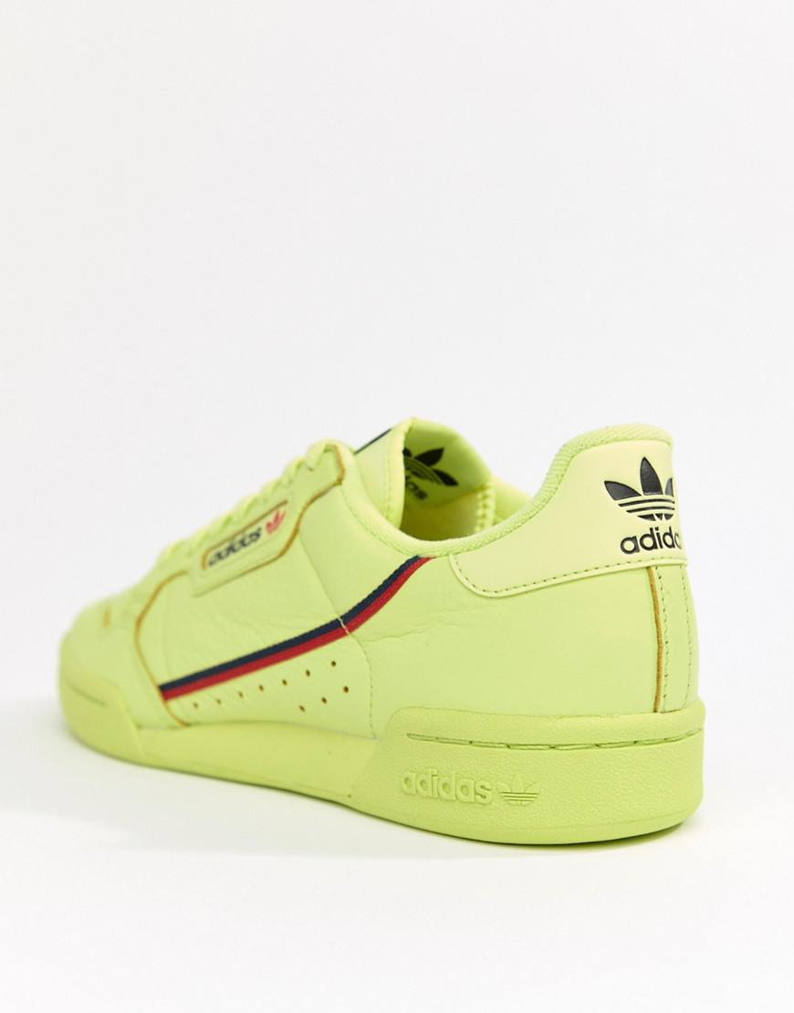 507336e26445f3 Lyst - adidas Originals Continental 80 s Sneakers In Yellow B41675 ...