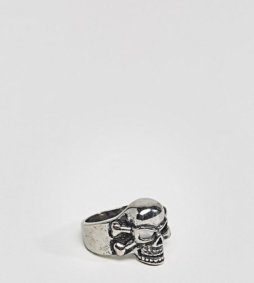 DesignB London DesignB Skull Ring In Black Exclusive To ASOS - Black jD50qC