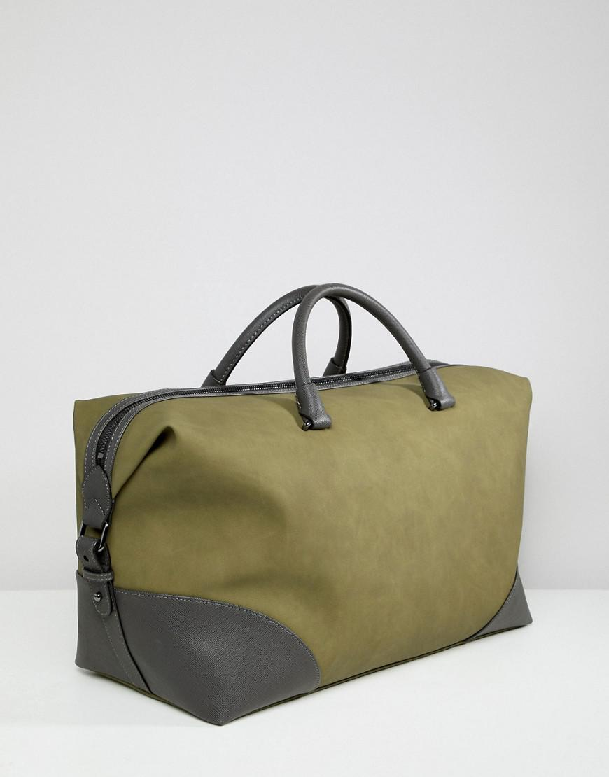 916beb67dba7 Lyst - Ted Baker Inferno Carryall In Nubuck Look in Green for Men