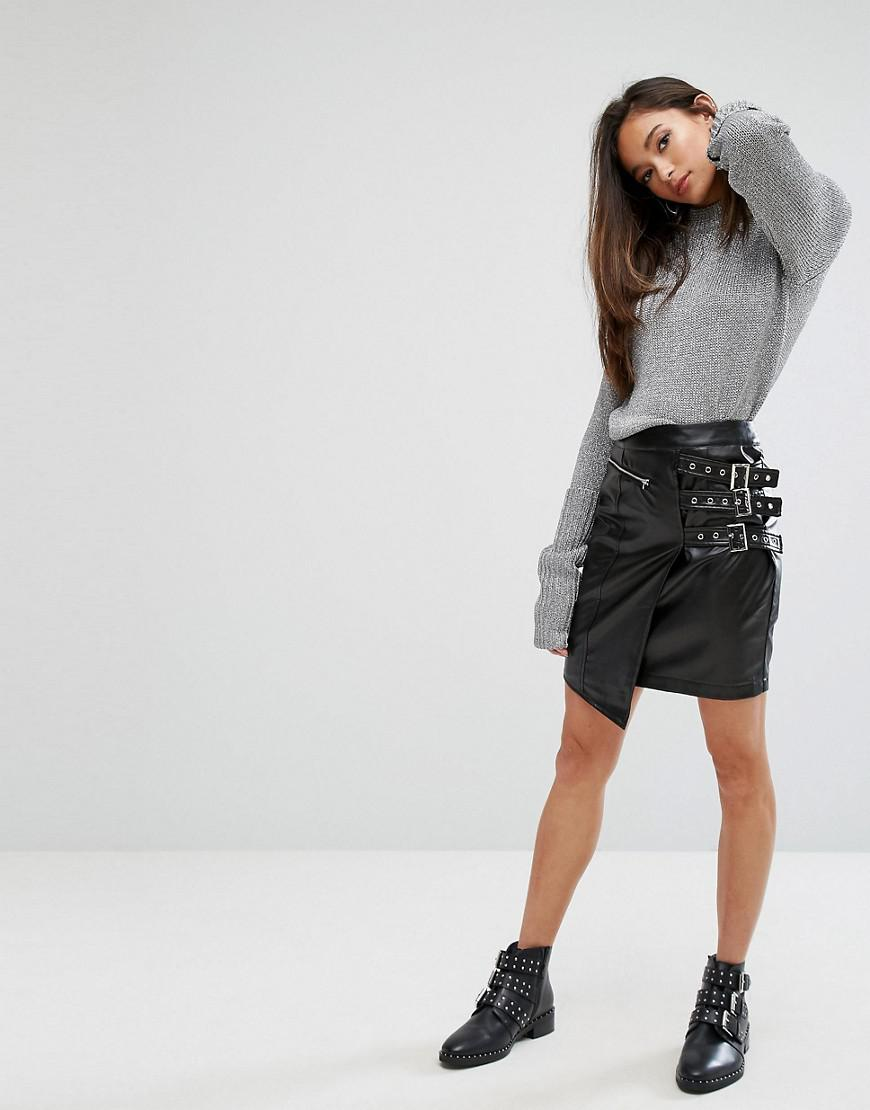 Clearance Online Black Leather Look Mini Skirt Pretty Little Thing Outlet Great Deals Cheap Price For Sale 8Yhygg8z7