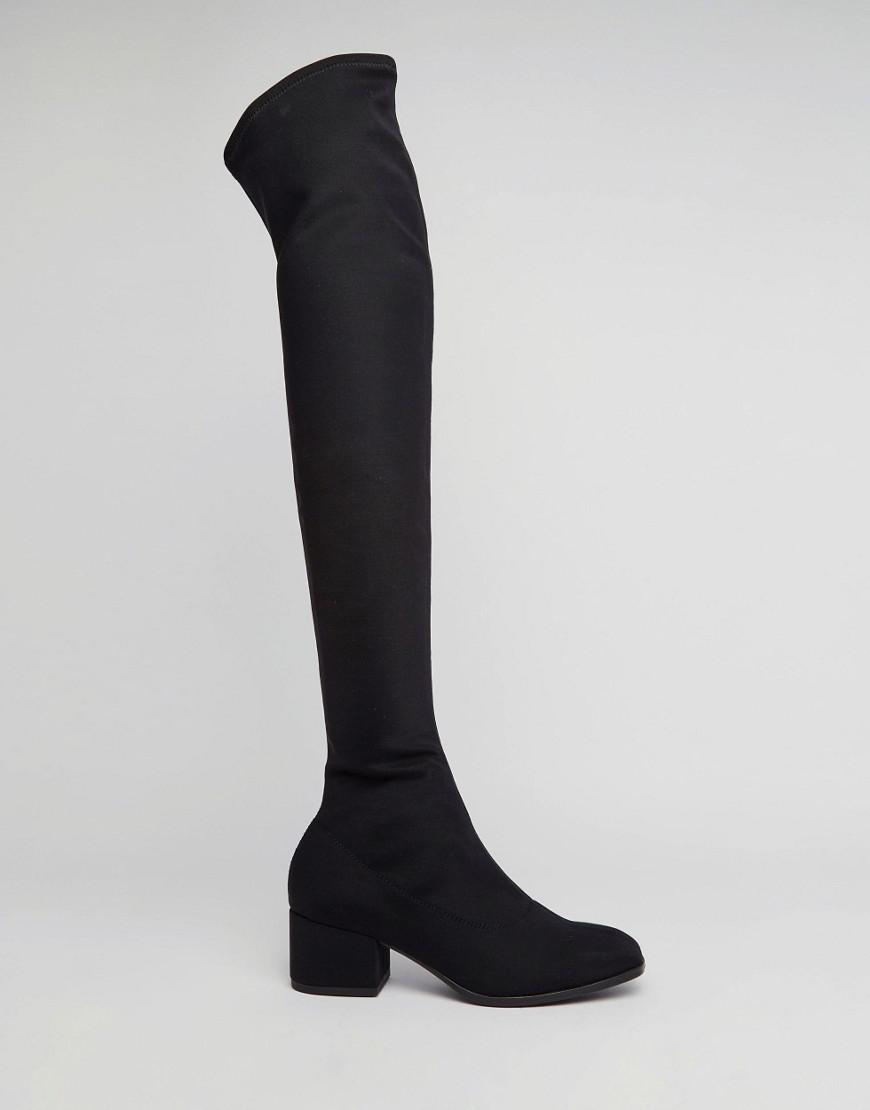 547378f4627 Lyst - Vagabond Daisy Over The Knee Boots - Black in Black
