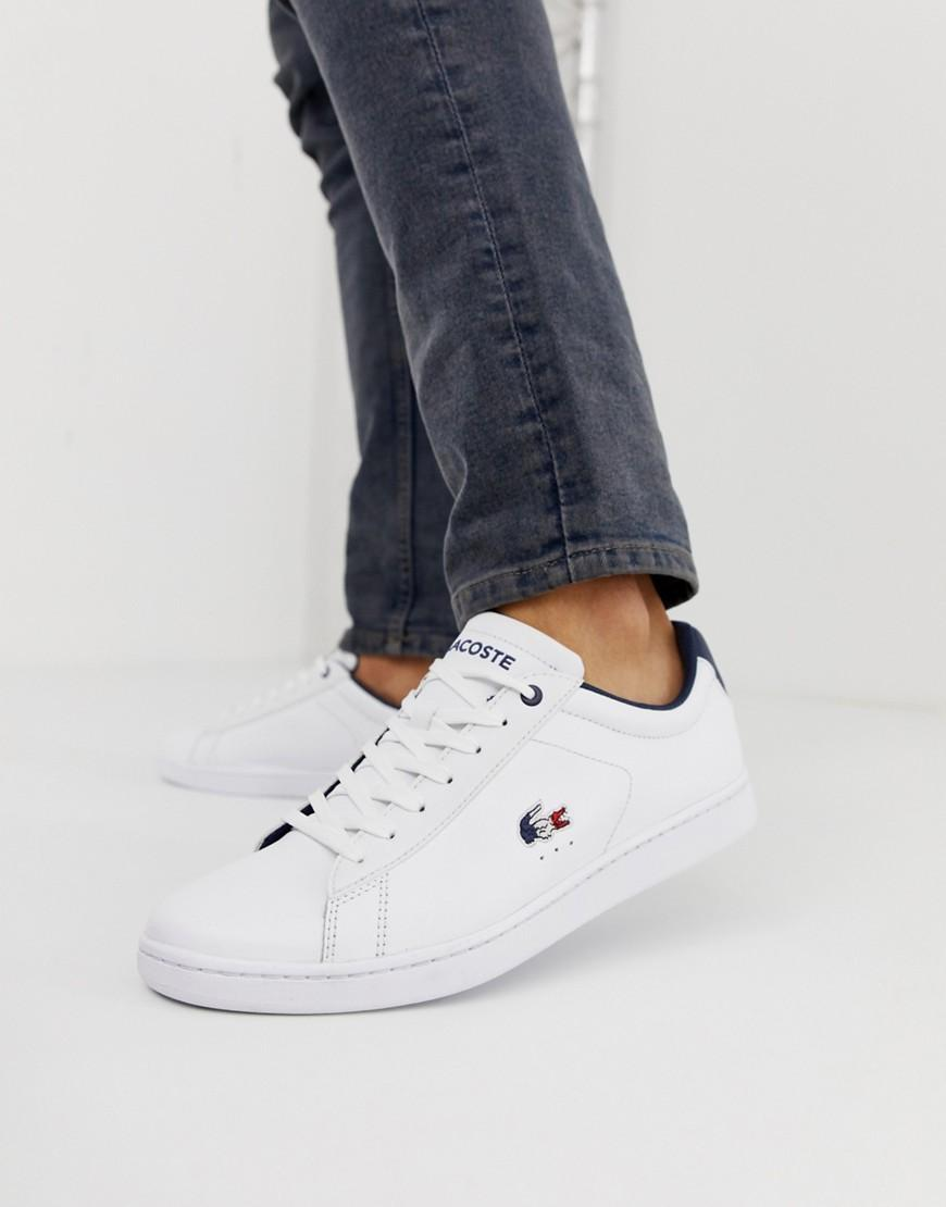 387fbce2180 Lacoste Carnaby Evo With Tricolour Croc In White in White for Men - Lyst
