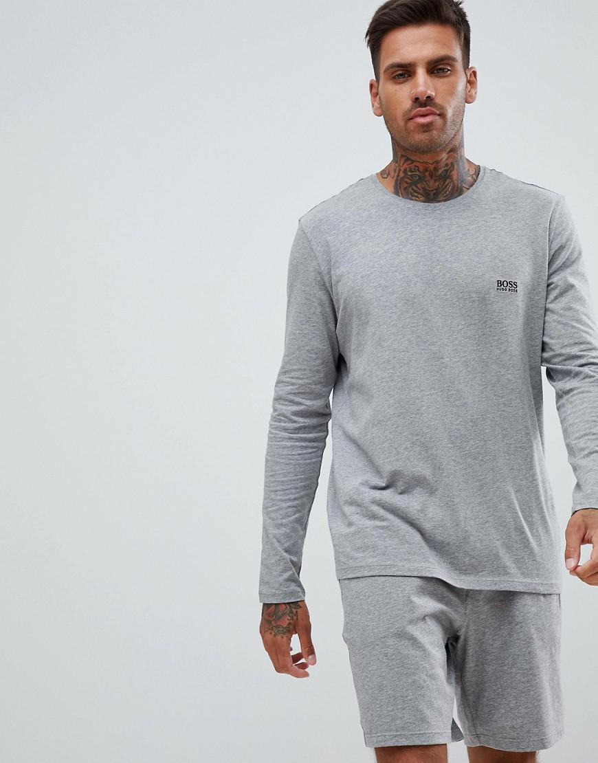 1b6532df1 Boss Bodywear Long Sleeve T-shirt in Gray for Men - Lyst