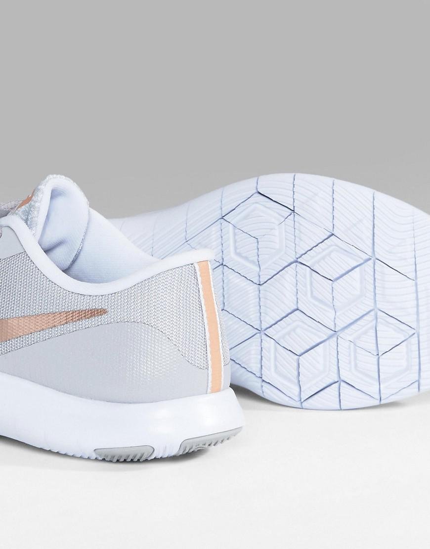 4a012b5c481f Nike Running Flex Contact Trainers In Grey And Metallic in Gray - Lyst