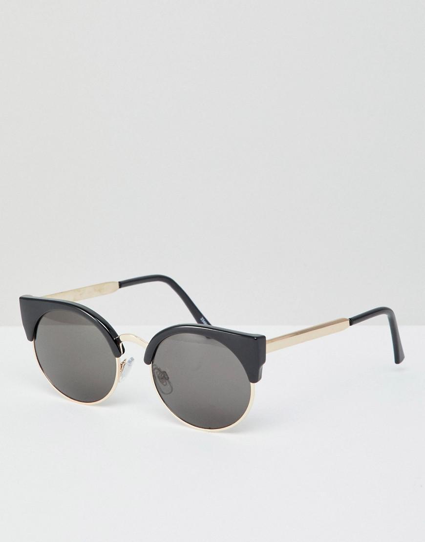 Lyst - Lunettes de soleil yeux de chat Monki en coloris Noir b2570f6dcd5f