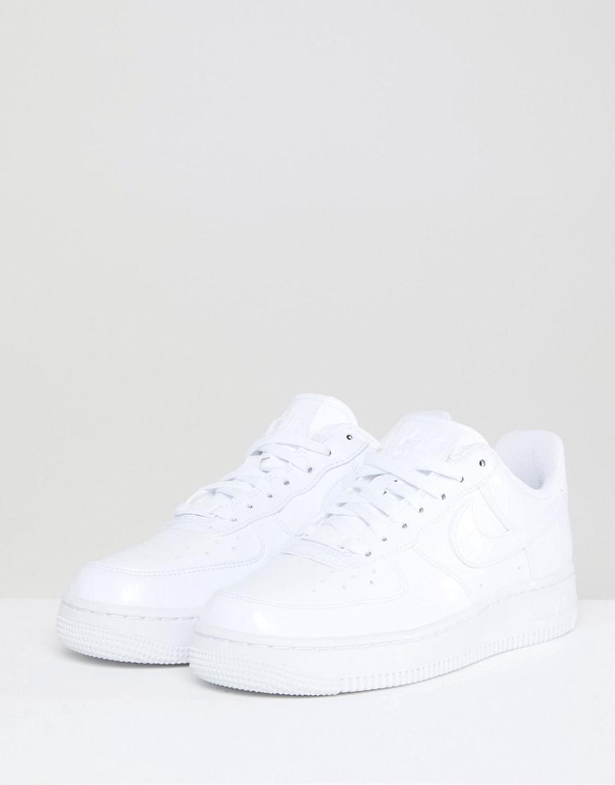 wholesale dealer 5b9c5 f2902 ... cheap nike air force 1 trainers in white snakeskin trim in white lyst  80e86 de02c