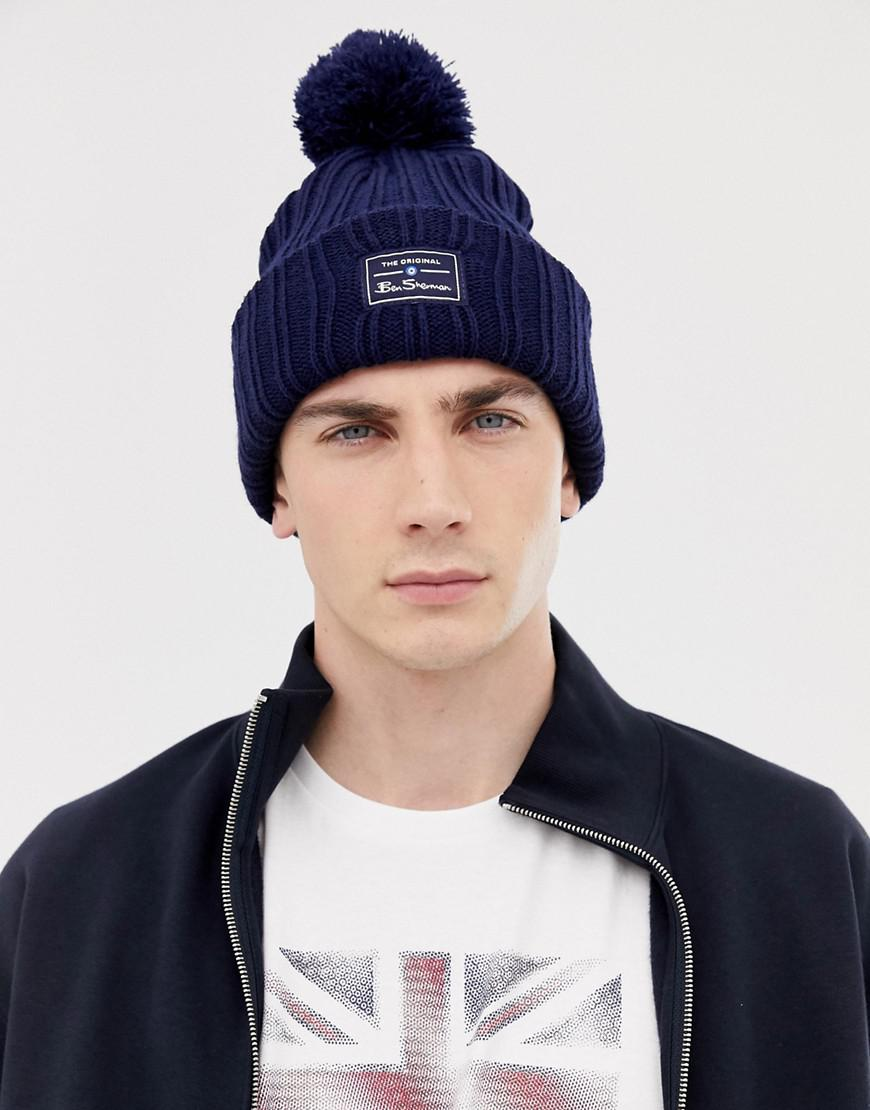 edce77e1ac0 Ben Sherman - Blue Mccree Bobble Hat for Men - Lyst. View fullscreen