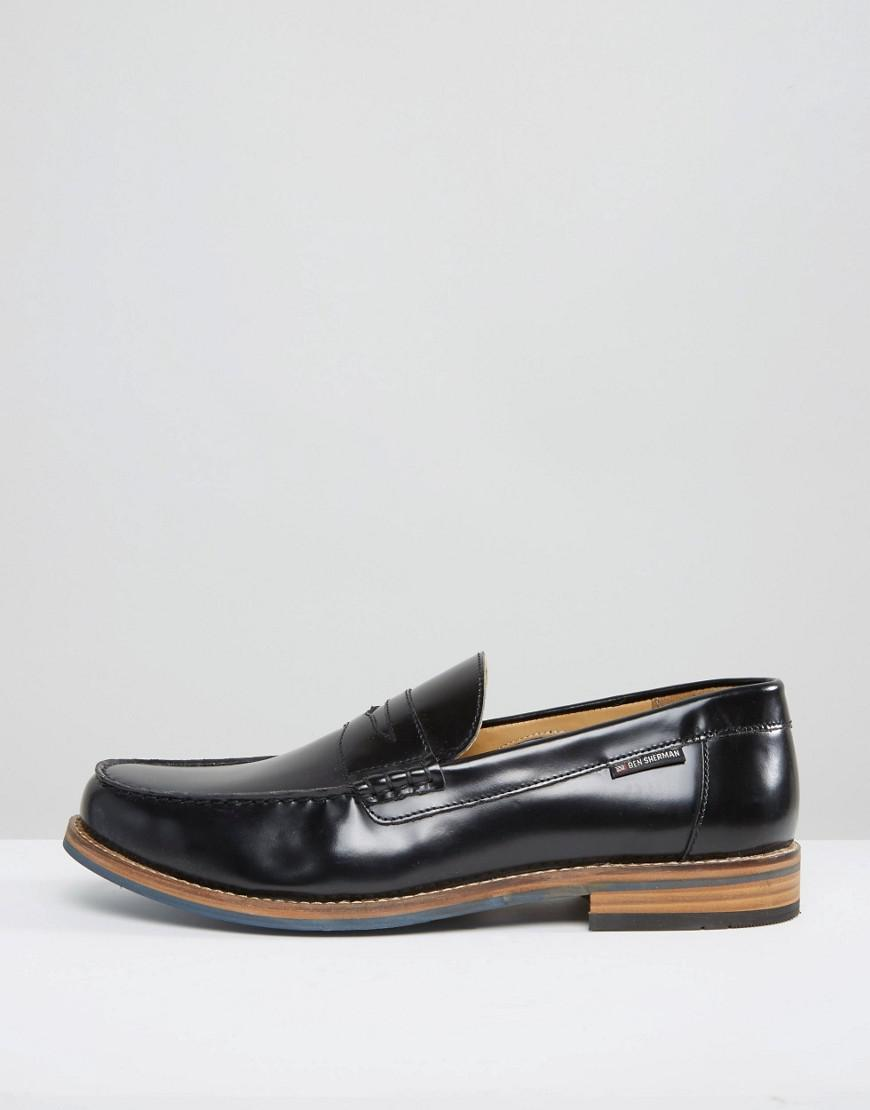 Penny Loafers In Pebble Black Leather - Black Ben Sherman zDNWYTTM