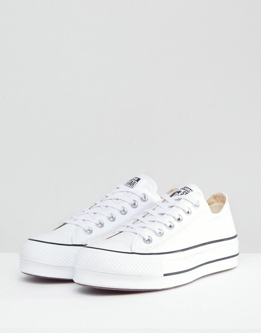 30797dfb0ce Lyst - Converse Chuck Taylor All Star Platform Ox Trainers In White in White