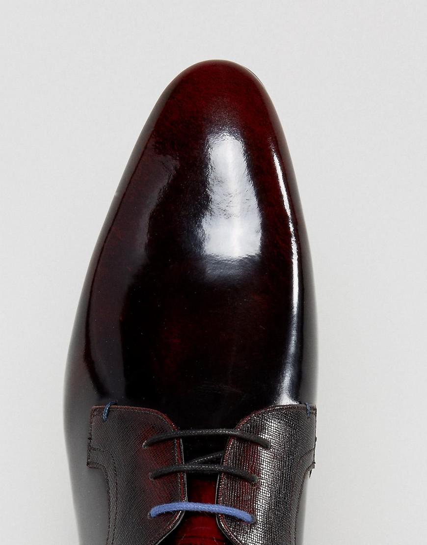 8365955d6d392a Lyst - Ted Baker Pelton Hi Shine Derby Shoes In Red in Red for Men best ...