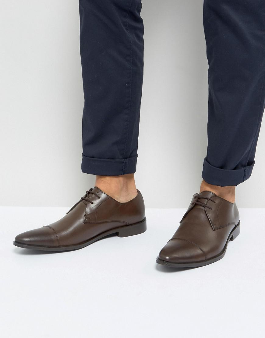 Derby Shoes In Tan Leather - Tan Frank Wright trCHSk