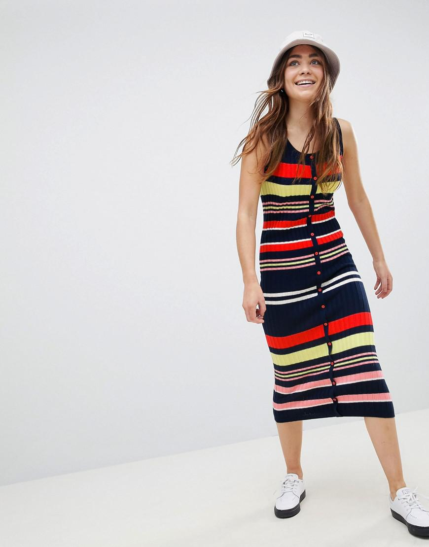 DESIGN Sleeveless Button Through Mini Skater Dress - Grey Asos Prices For Sale Cheap Purchase Nicekicks Sale Release Dates v6IRci1gc